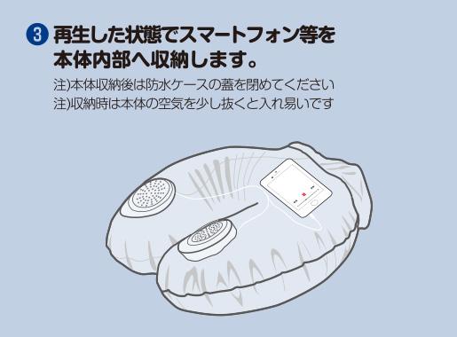 ウォーター枕スピーカーの使い方