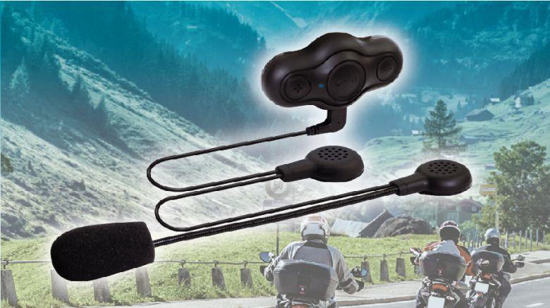 ヘルメットをかぶったままでも音楽や通話を楽しめ、バイクツーリング最適。ヘルメット用ブルートゥース ハンズフリー「JF-BTH1BK」を新発売