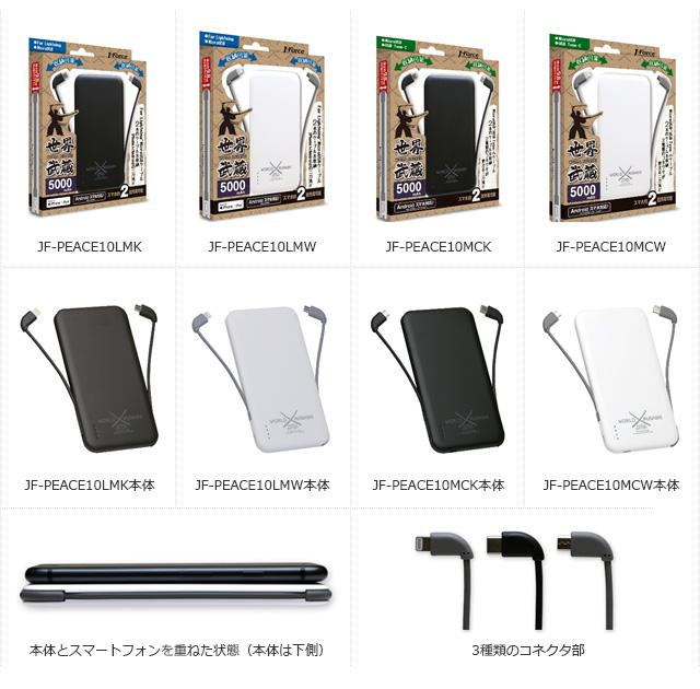 持ち運びに便利な薄型モバイルバッテリー「世界武蔵」